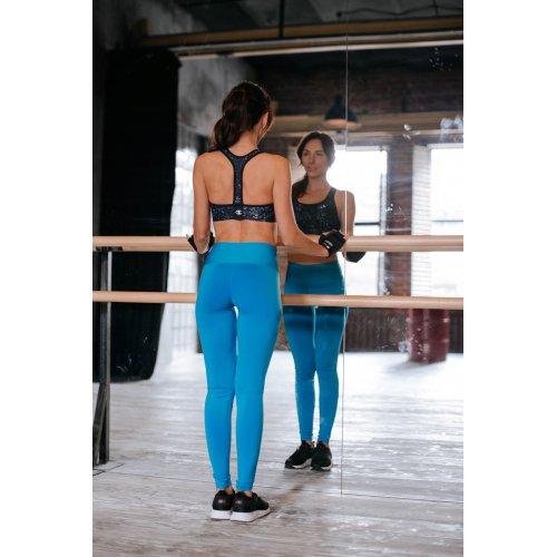 Лосины для фитнеса бирюзового цвета