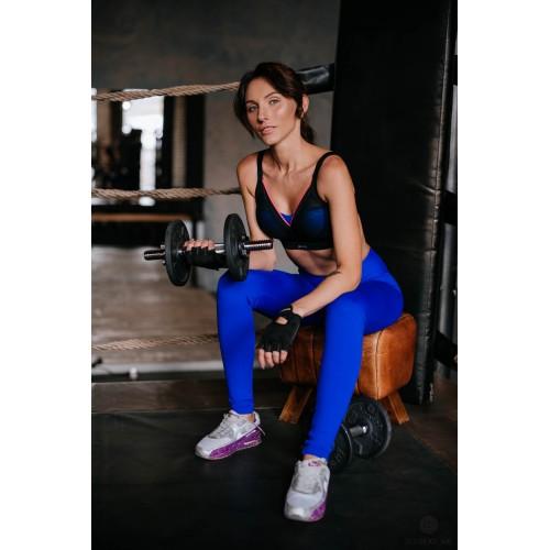 Лосины для фитнеса ультра синего цвета