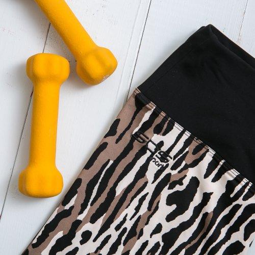 Лосины для фитнеса леопард
